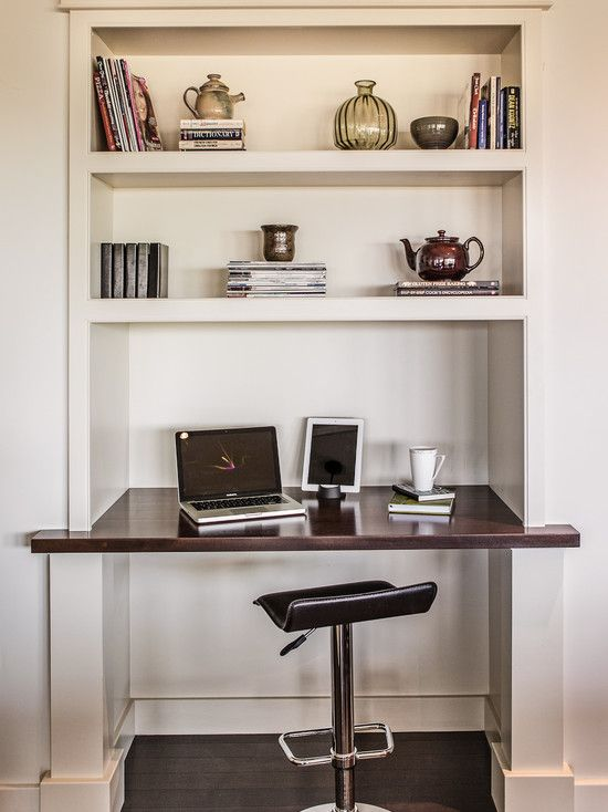 14 best images about alcove desk ideas on pinterest for Built in kitchen desk ideas