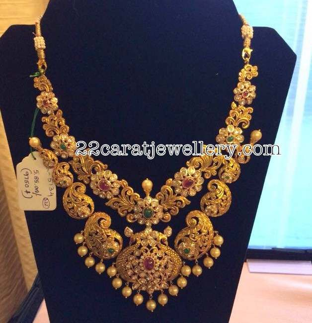 Mango Motifs Gold Heavy Necklace