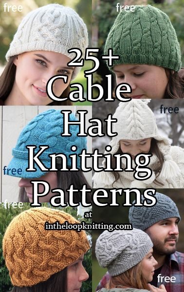22535b7d20c Cable Hat Knitting Patterns. Beanies