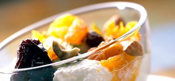Philadelphia Composta di frutta secca con gelato al Philadelphia