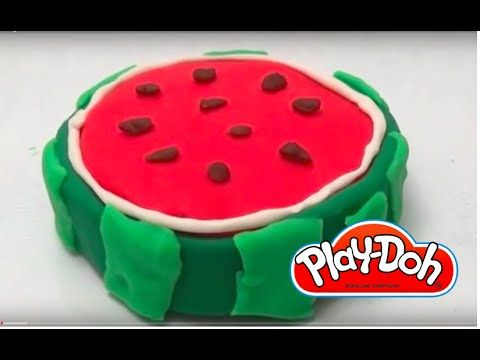 Play doh watermelon cake- DIY play doh cake watermelon how to