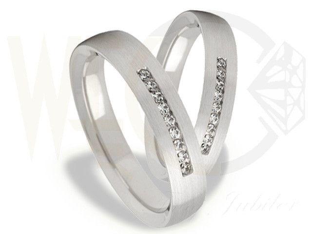 Obrączki ślubne z białego złota/ Wedding rings made from white gold/ 2 842 PLN #weddingrings #rings #wedding #whitegold #love