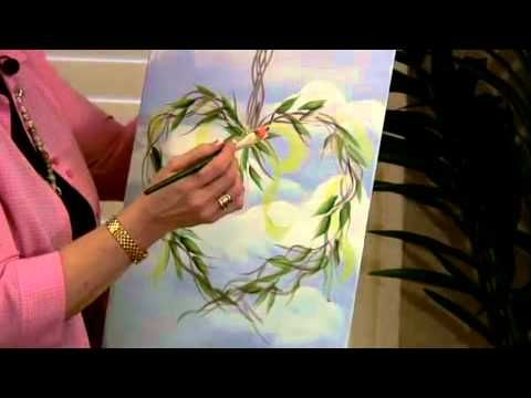 How to Paint a Vintage Heart Wreath