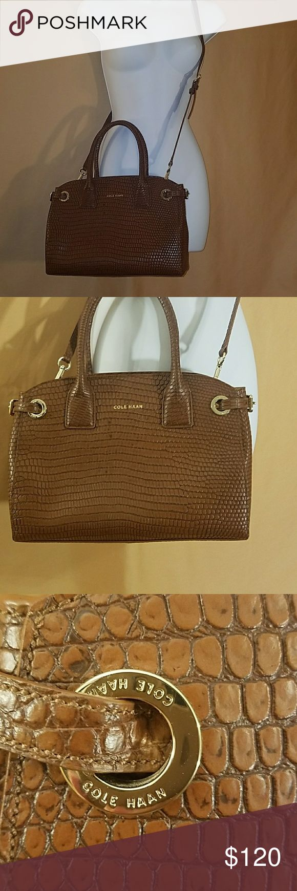 Cole Haan purse Beautiful camel colored bag with structure and gold hardware. Used once. Cole Haan Bags Satchels
