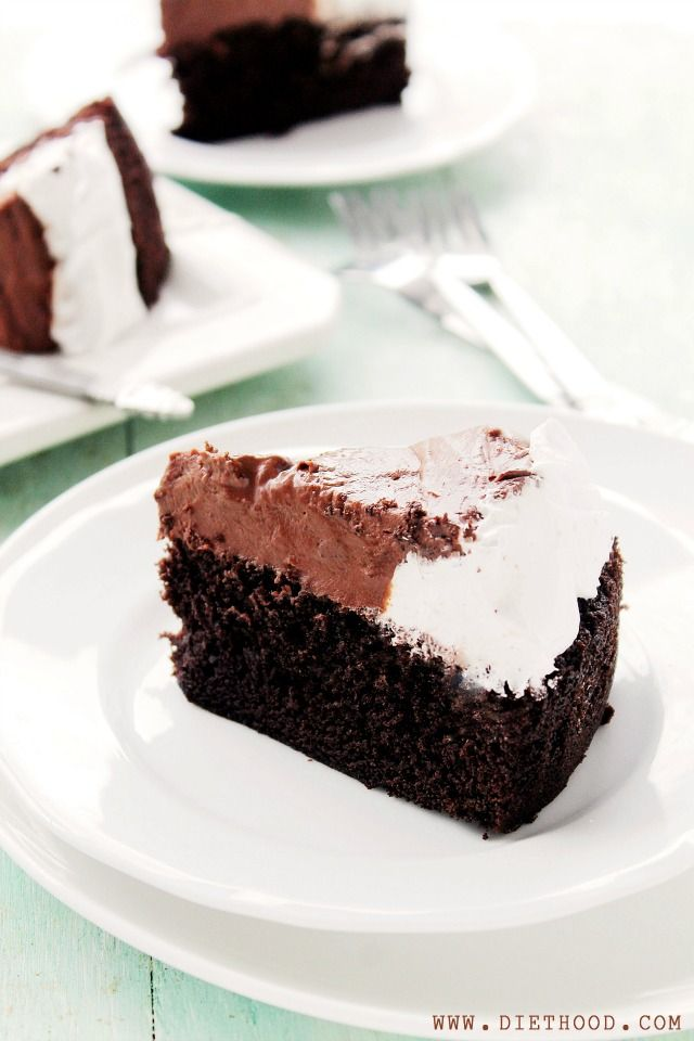 Chocolate Mousse Cake by Diethood1 Chocolate Mousse Cake