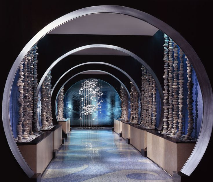 This amazing tunnel of glass beads leads into the wine cellar bar, beach bar and the main dining room. Hard to believe this was the old Sea  Turtle.One Ocean Resort Hotel & Spa - Jacksonville, Florida - Azurea