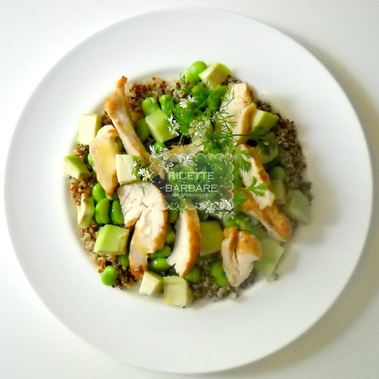Ricette Barbare: Quinoa salad with roast chicken and beans