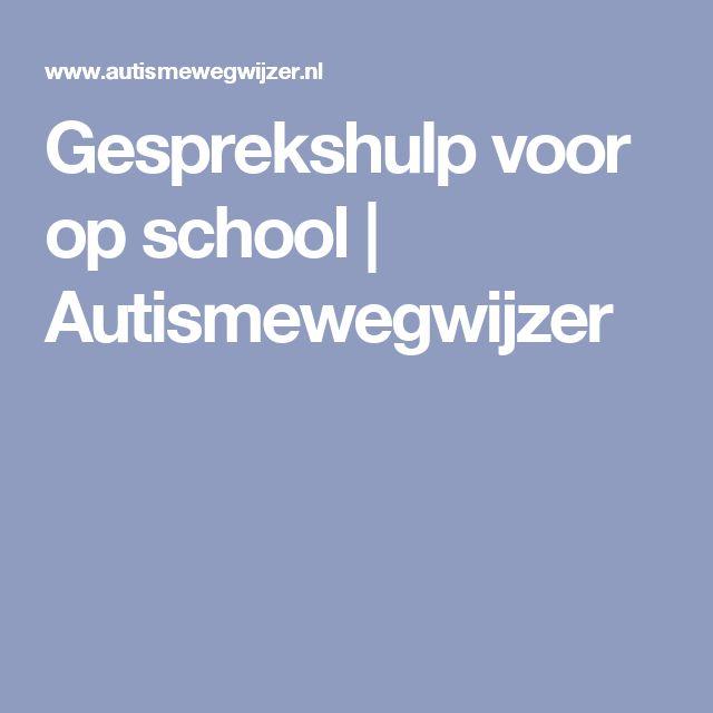 Gesprekshulp voor op school | Autismewegwijzer