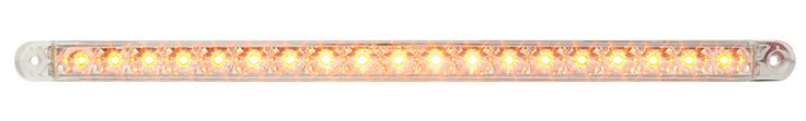 "12"" Flush Mount Dual Function Led Light Bar, Amber/Clear"