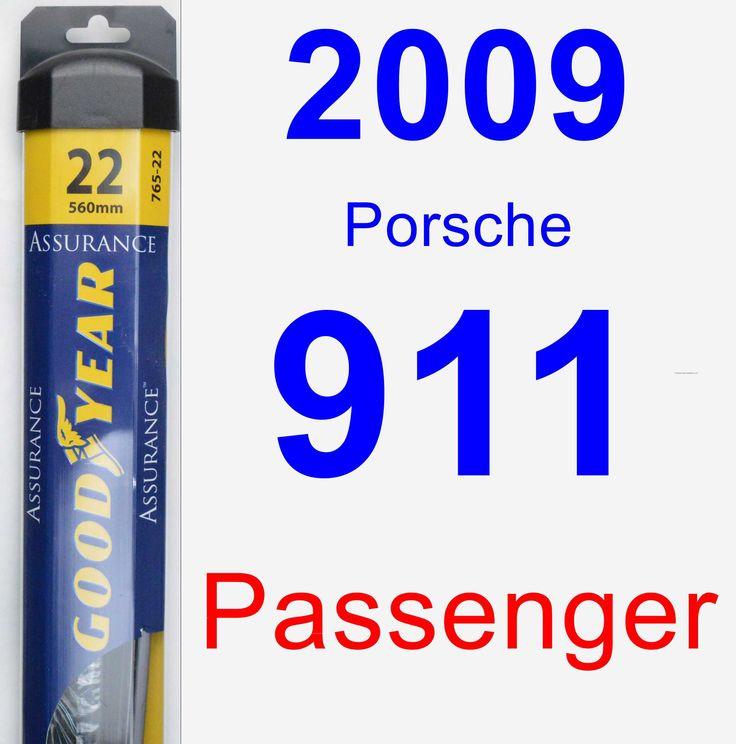 Passenger Wiper Blade for 2009 Porsche 911 - Assurance