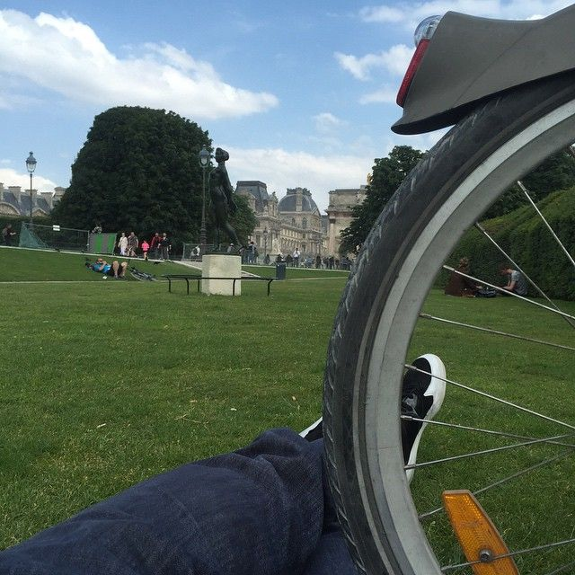Gigi Datome fa il turista in bicicletta!