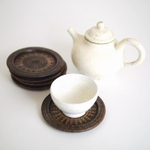 タイの民藝 ヤンリパオ組茶托 5客組   タイ工藝ムラカ