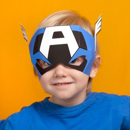 Maschera di Capitan America da stampare e ritagliare