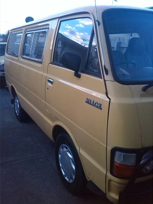 Here she is, after months of saving and researching, shes all mine a 1980 Toyota Hiace a few things to do but a cupla months we'll be on the open rd......