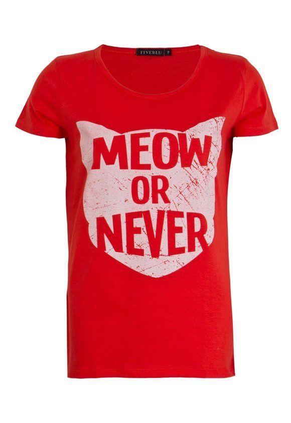 Camiseta FiveBlu Meow Laranja | Camiseteca
