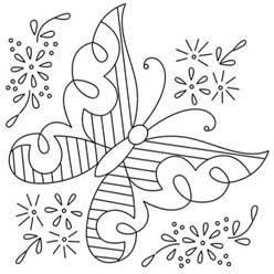 Pintando una mariposa