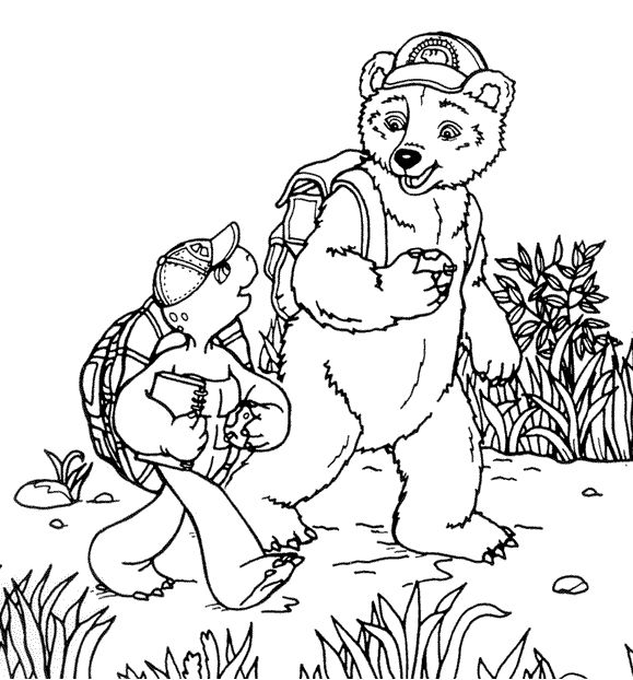 Franklin The Turtle Coloring Pages