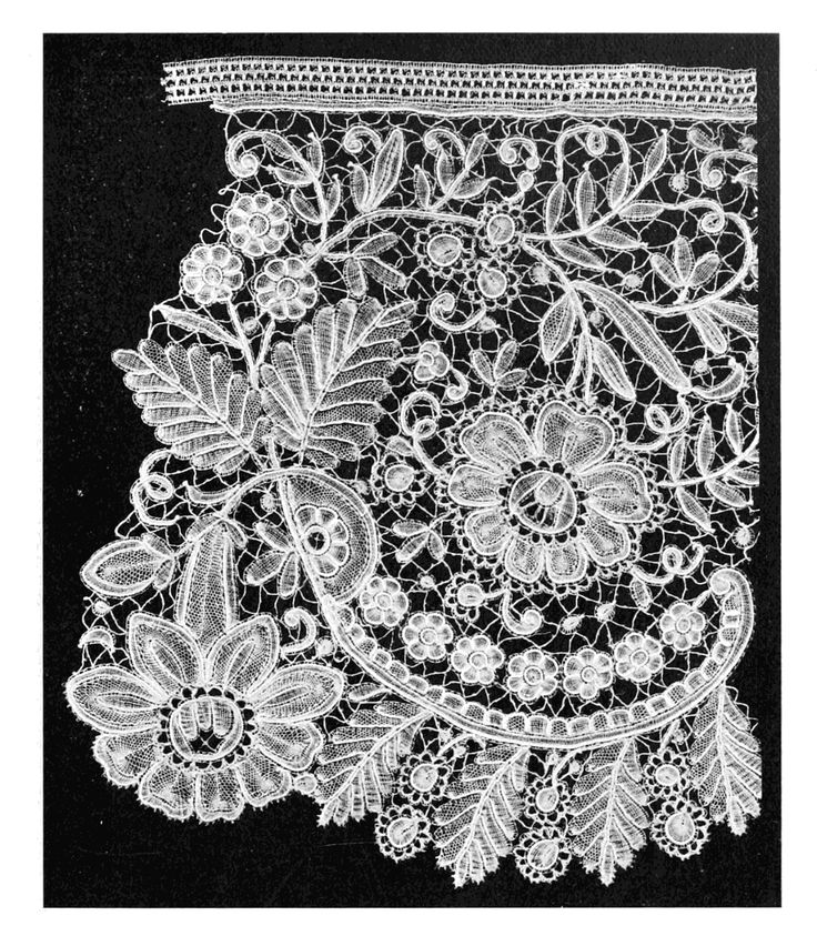 Brussels lace, the term strictly interpreted refers to bobbin lace, in which the pattern is made first, then the ground, or réseau, added, also using bobbin lace.