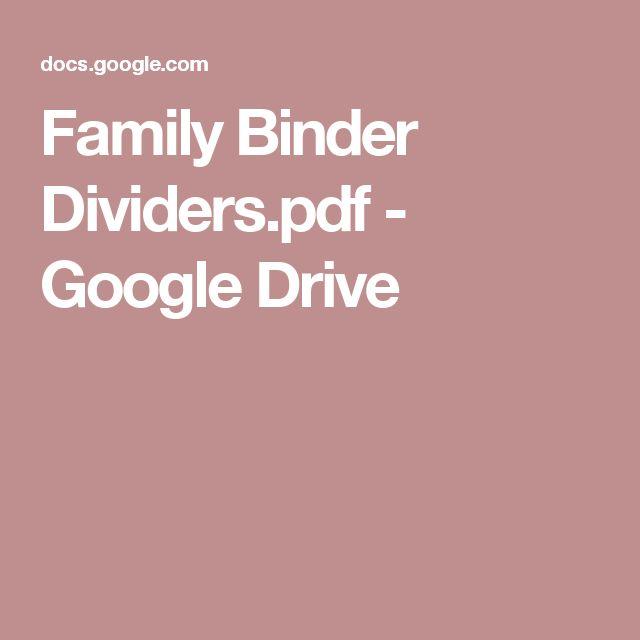 Family Binder Dividers.pdf - Google Drive