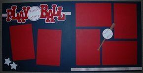 Baseball Play Ball Premade Scrapbook Page Kit