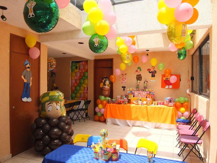 Decoraci n tem tica chavo del ocho globos centros de - Decoracion fiesta infantil ...