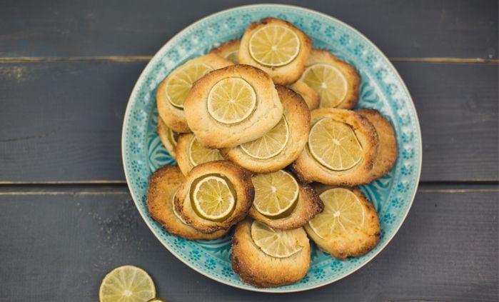 Рецепт «Миндальное печенье с лаймом »