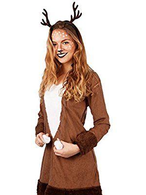 Reh Kleid Rehkitz exklusiv Rehkostüm Kostüm Damen Tier Fasching NEU (40/42)