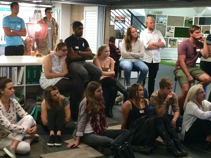 @designtime1 and @bhcdesignschool students listening to the #interiordesign presentations.