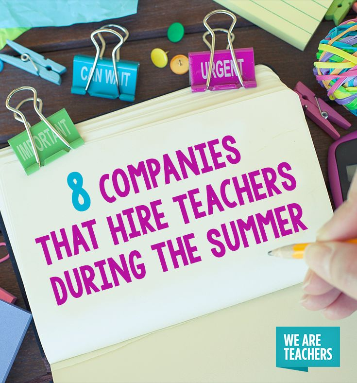 21 Companies That Hire Teachers During the