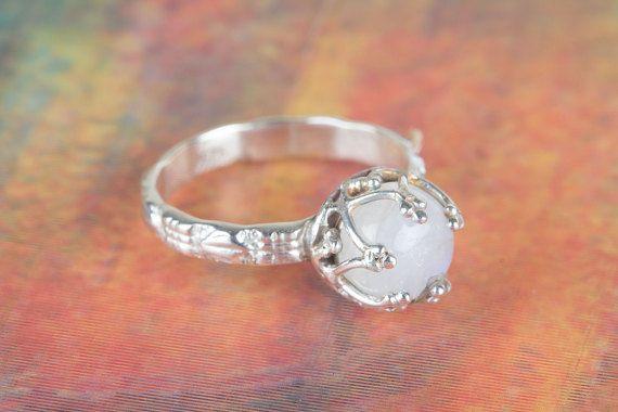 Rainbow Moonstone Ring Sterling Silver Ring Gemstone Ring