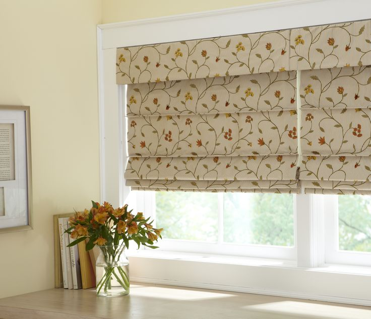 The Ribbed Pleat style Fabric Roman Shade from Horizons Window Fashions is one of the six available styles. horizonshades.com