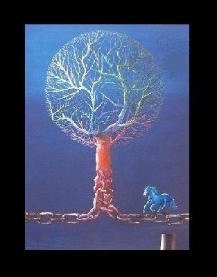 at ağacı-akrilik-sait ışık