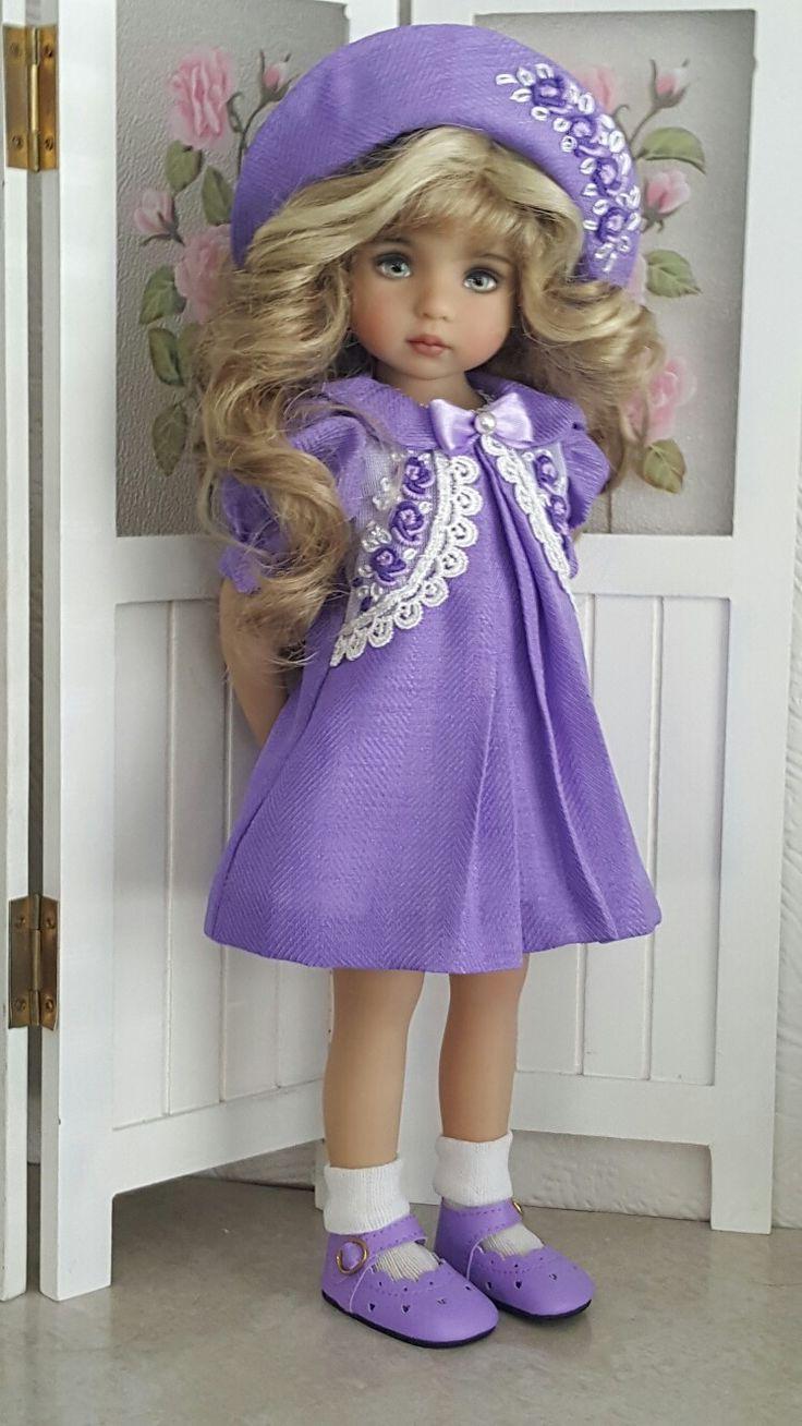 Handmade Vintage style dress set made for Effner Little darling dolls