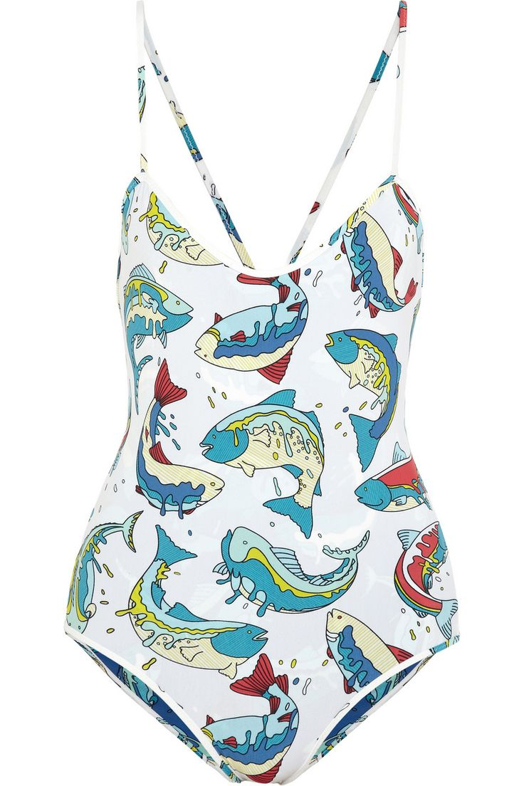 KENZO | Reversible printed swimsuit | NET-A-PORTER.COM