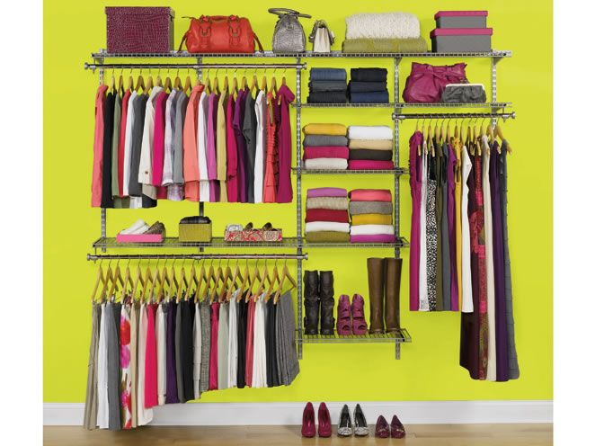 rubbermaid custom closet organizer deluxe 4 to 8 foot white