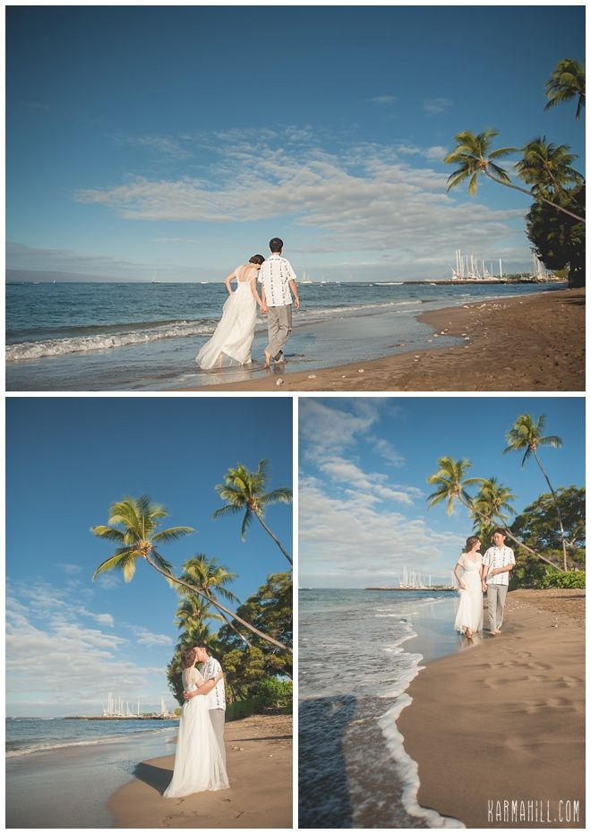 Maui Trash The Dress In Lahaina Walk Along Beach Before Hopping Into Ocean For Some TTD Fun Newlywed Pictures Idea Simple Wedding
