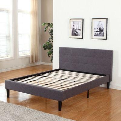 madison home usa upholstered platform bed