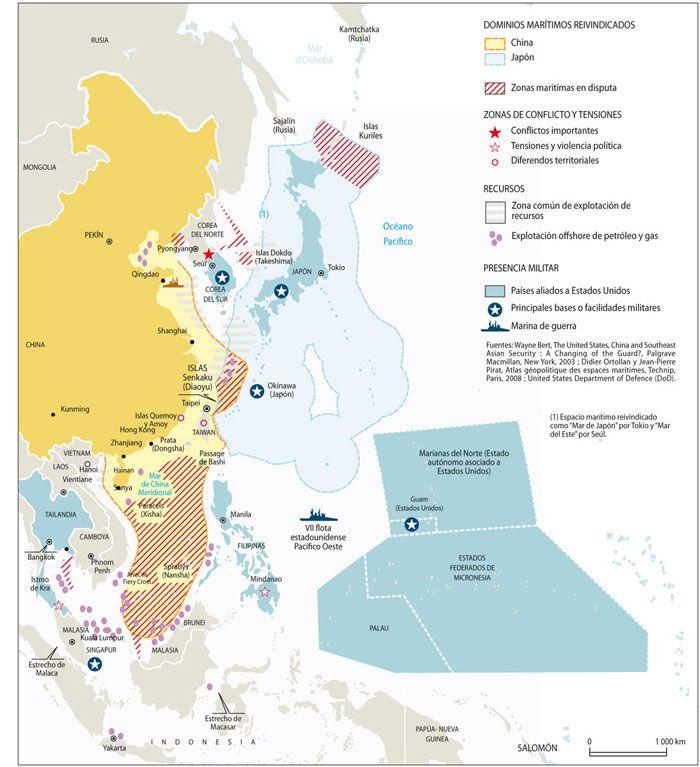 Asia - China - Japón - Seguridad - Conflictos - Economía - Energía - Situación marítima en el sudeste asiático