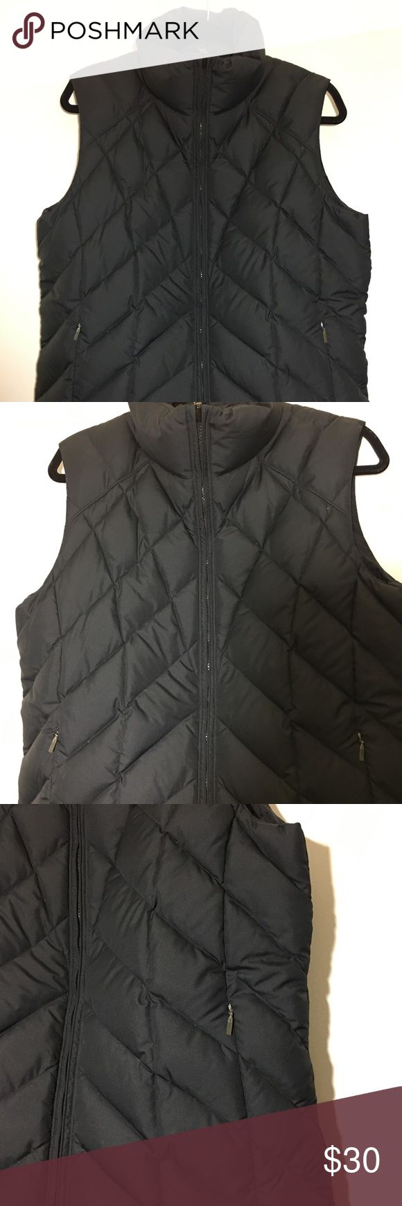 Columbia Down Puffer Snow Women's Vest Black - Lg Columbia core interchange puffer snow women's vest in size L. Please see photos for complete description.  Brand: Columbia  Style: Puffer snow vest  Size: L Color: Black Columbia Jackets & Coats Vests