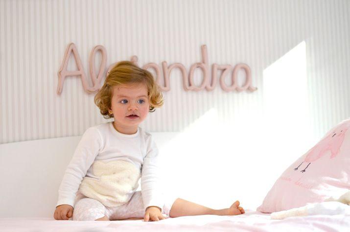 Alejandra con su pijama de TOUS Baby #TousKidsbaby
