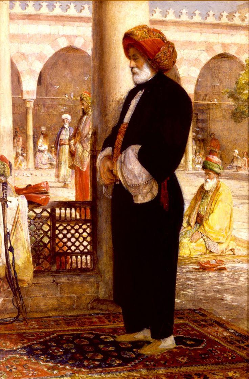 John Frederick Lewis (1857) - İkindi Namazı ( 'Asr) - Kahire'de bir Camii İçi