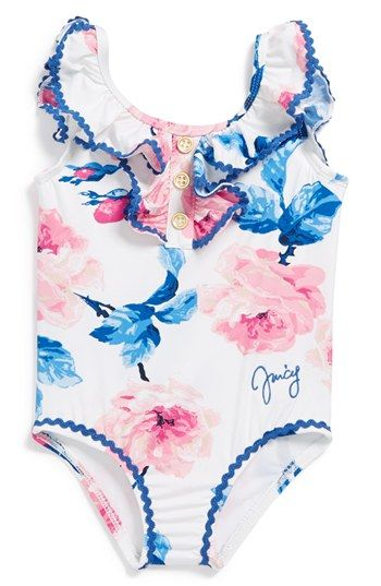 Juicy Couture 'Rose' One-Piece Swimsuit (Baby Girls)   Nordstrom