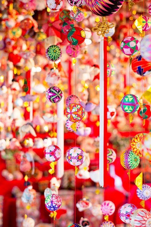 Girls festival decoration in Yanagawa, Fukuoka, Japan.