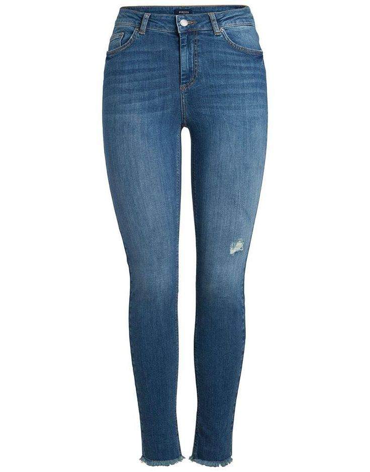 Pieces Five Delly Skin Jeans in Medium Blue