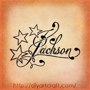 107 best images about letters tracing tattoos on for Jackson name tattoo