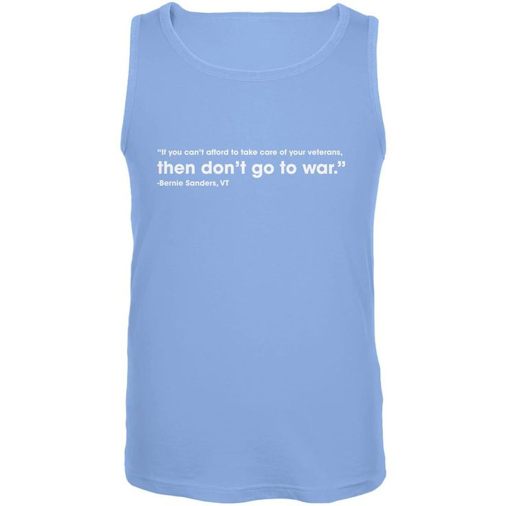 Election 2016 Bernie Sanders Veterans Quote Blue Adult Tank Top