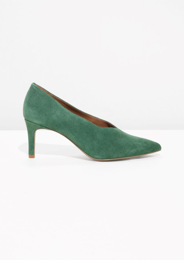 & Other Stories image 1 of Suede Pumps in Green