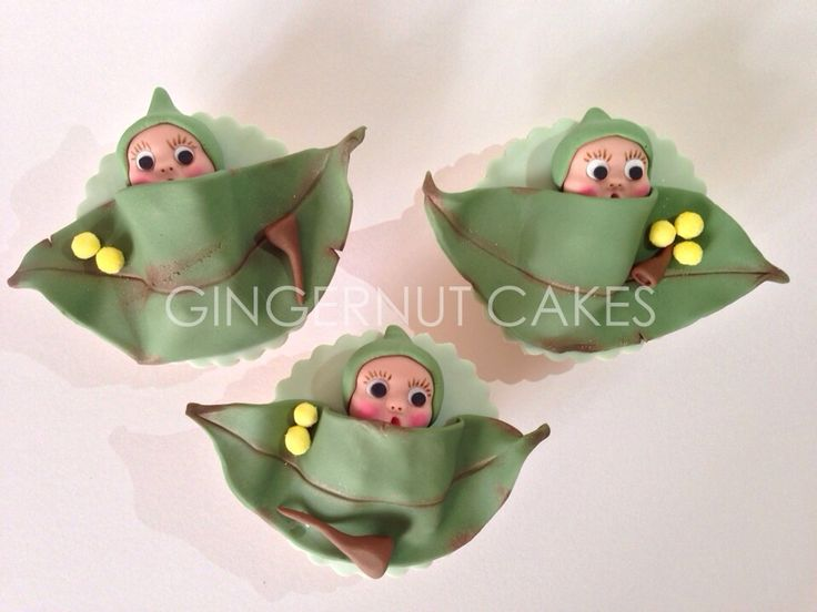 Gumnut Babies - These cupcakes were designed from a children's book series in Australia 'The Tales of Snugglepot and Cuddlepie'.