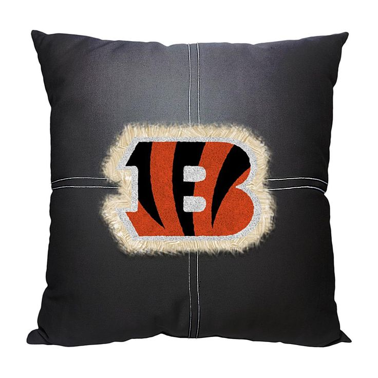 Officially Licensed NFL Letterman Pillow - Bengals