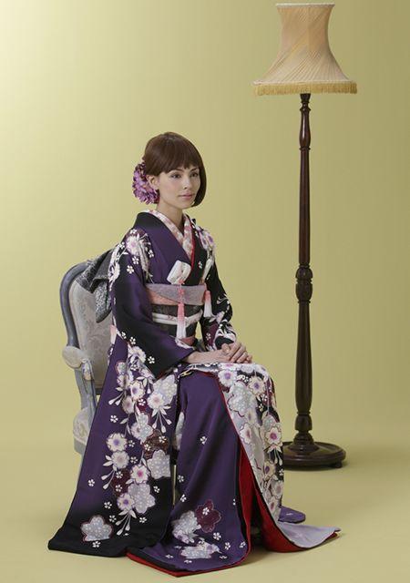 "loveandwedding: ""枝垂れ桜(引振袖) """